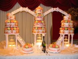 torta de 15 años tres pasteles