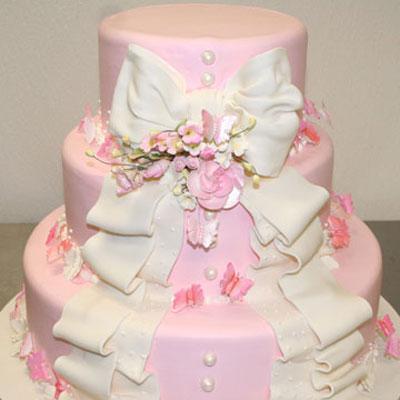 pastel de 15 años rosa palido