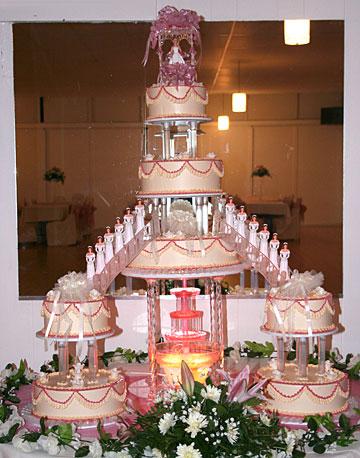 pastel de 15 años de tres pisos