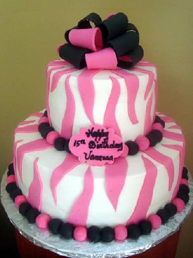 pastel de 15 años rosa