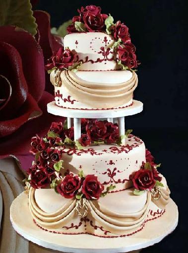 pastel de 15 años rojo vino