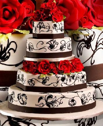 pastel de 15 años con rosas