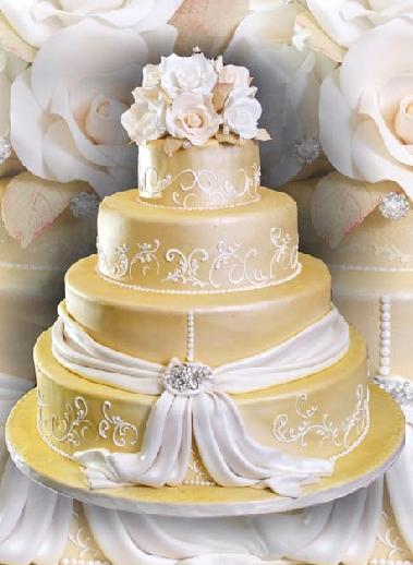 pastel de 15 años dorado