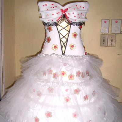 pastel de 15 años de vestido