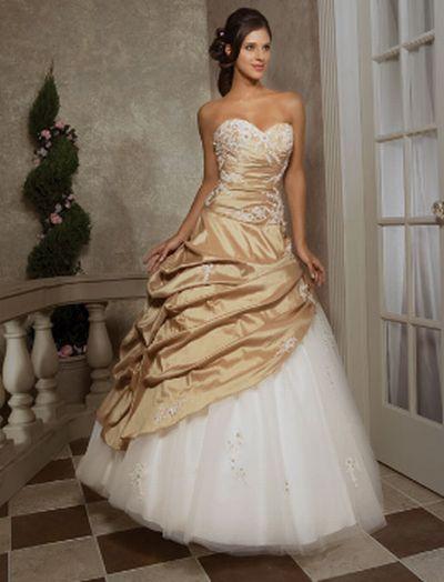 Vestidos de xv blanco con dorado