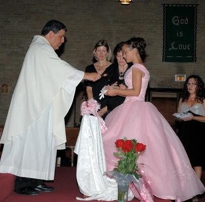 Ceremonia religiosa de 15 años