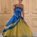 Vestido de 15 años Azul y Amarillo