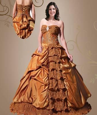 vestidos de 15 aos dorados. Vestido de 15 años Dorado