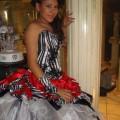 Cómo usar un vestido de 15 años animal print
