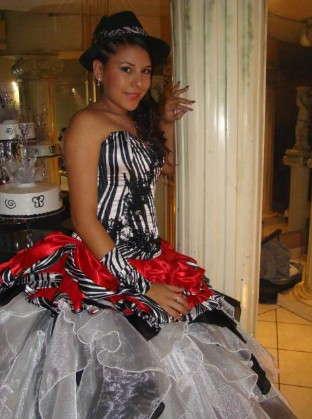 vestido de 15 cebra