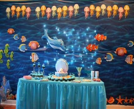 bajo el mar decorado de 15 años.