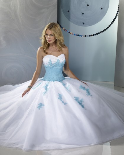 alice in wonderland wedding dress vestido de 15 a 241 os blanco con apliques celestes 1257