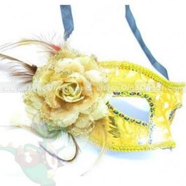 La máscara para la persona que estrecha los tiempos con el almidón