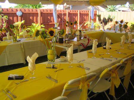 Decoraci n de 15 a os color amarillo - Decoracion salon amarillo ...